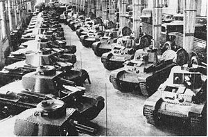 Tanks of Czechoslovakia -  LT vz. 35 tanks in the Škoda Works