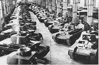 Tanks of Czechoslovakia -  LT vz. 35 tanks in the Škoda Works