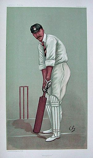 Teddy Wynyard - Wynyard as caricatured by Spy (Leslie Ward) in Vanity Fair, August 1898