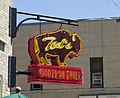 Teds Montana Grill sign - Baxter Hotel - Bozeman Montana - 2013-070-09 (9358141239).jpg