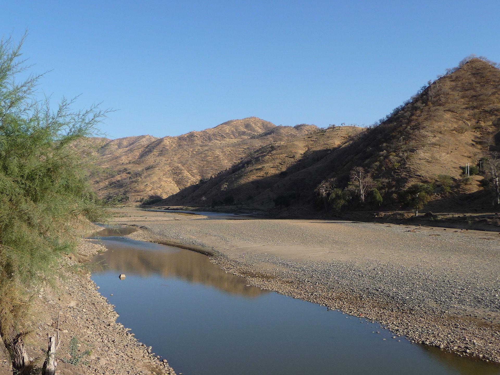 Etiopijoje tekanti upė