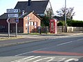 Telephone box, Balbeggie - geograph.org.uk - 1540240.jpg