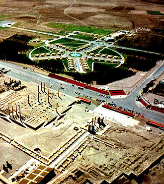 2,500 year celebration of the Persian Empire - Tent City of Persepolis in 1971