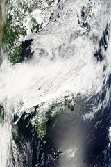 Terra MODIS Stationary front cloud over Japan.jpg