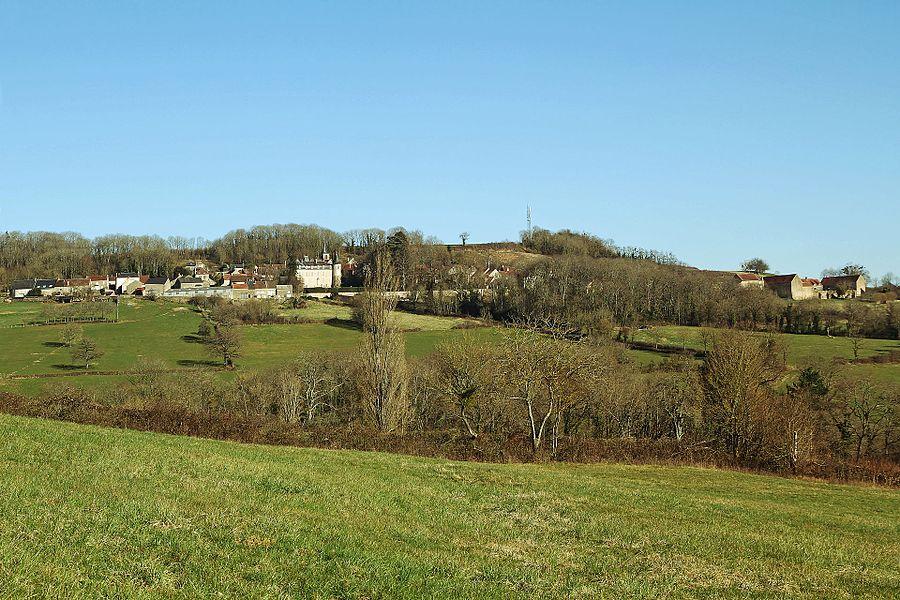 Vue de Tharoiseau depuis la colline de Fontette