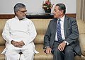 The Ambassador of Austria in India, Dr. Ferdinand Maultaschl meeting the Union Minister for Road Transport and Highways, Dr. C.P. Joshi in New Delhi on June 29, 2012.jpg