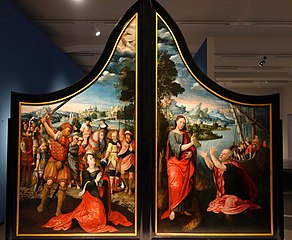The Beheading of Saint Catherine of Alexandria (left) and the Miraculous Catch (right)