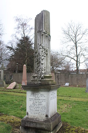 Grace Cadell - The Cadell grave, Morningside Cemetery, Edinburgh
