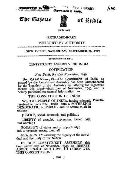 চিত্র:The Constitution of India 1949 (Gazette Notification Version).djvu