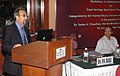 The Director Land and Water Division, and GIAHS Coordinator, FAO, Dr. Parviz Koohafkan delivering the Keynote address, at the inauguration of the Workshop on Tribal Heritage Agriculture Systems (THAS), in New Delhi.jpg