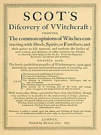 The Discoverie of Witchcraft cover