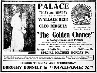 <i>The Golden Chance</i> 1915 film by Cecil B. DeMille