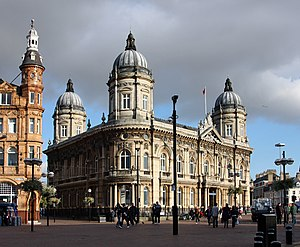 Port of Hull - The third Hull Dock Company offices (built 1871), at the former junction between Queen's and Prince's Dock