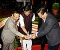 The Minister of State (IC) for Power and New and Renewable Energy, Shri Raj Kumar Singh lighting the lamp at the launch of the Saubhagya Scheme, in Meghalaya.JPG