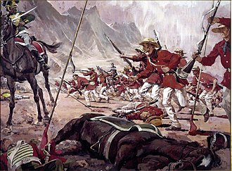 155th Infantry Regiment (United States) - 155th Infantry Regiment fighting in Buena Vista, Mexico, February 23, 1847