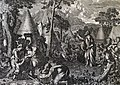 The Phillip Medhurst Picture Torah 402. The Israelites collect manna. Exodus cap 16 vv 14-17. Le Potre.jpg