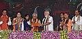 The Prime Minister, Shri Narendra Modi felicitating the beneficiaries of various schemes, at a function, in Varanasi, Uttar Pradesh (4).jpg