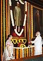 The Prime Minister, Shri Narendra Modi paying floral tributes at the portrait of the former Prime Minister, Shri Morarji Desai, on his Birth Anniversary, in New Delhi.jpg