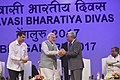 The Prime Minister, Shri Narendra Modi welcoming the Prime Minister of Portuguese Republic, Mr. Antonio Costa, at the inauguration of the Pravasi Bharatiya Divas (PBD-2017) celebrations, in Bengaluru, Karnataka.jpg