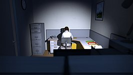 Screenshot van The Stanley Parable uit 2013