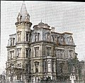 The Stewart Castle on Dupont Circle (ca 1900). It was built in 1873 for William Morris Stewart and was designed by Adolph Cluss. It was razed in 1901 by the new owner who planned to build a new (4225800703).jpg