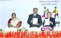 The Union Minister for Health and Family Welfare, Dr. Anbumani Ramadoss and the Director General, WHO, Dr. Lee Jong-Wook releasing the World Health Report-2005, on the occasion of World Health Day, in New Delhi on April 7, 2005.jpg