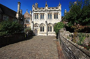 Vicars' Close, Wells - Vicars' Chapel and Library