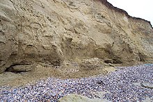 Sandy cliffs at Reculver Country Park