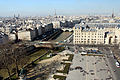 The parvis as seen from Notre-Dame, Paris 5 March 2015.jpg