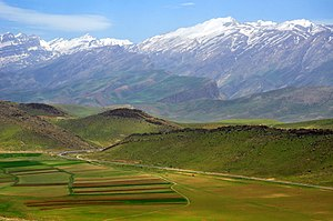 Zagros Mountains - Dena, highest point in the Zagros Mountains, still has glaciers on it