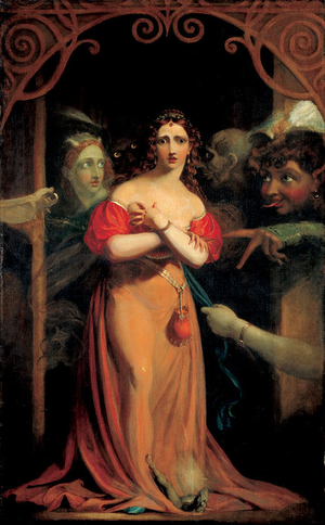 Spirit - Theodor von Holst, Bertalda, Assailed by Spirits, c. 1830