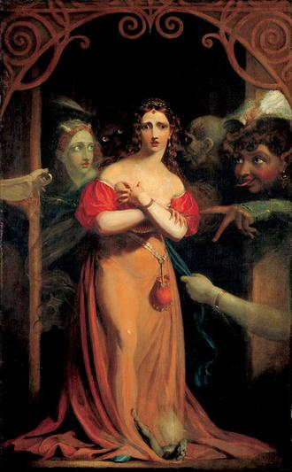 Spirit - Theodor von Holst, Bertalda, Assailed by Spirits, c. 1830
