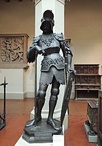 Theodoric the Great statue (Innsbruck) - replica in Pushkin museum 01 by shakko.JPG