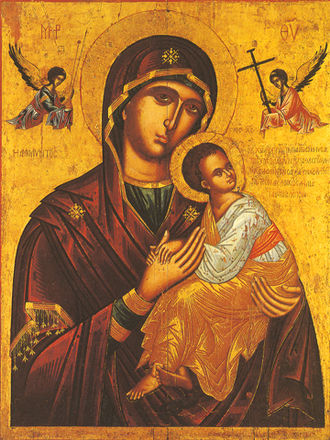 Our Lady of Perpetual Help - Eastern Orthodox icon of the Theotokos of the Passion