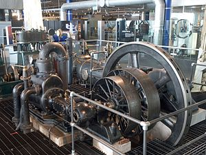 W & J Galloway & Sons - Galloway uniflow steam engine, now in Thinktank, Birmingham Science Museum