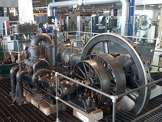 Uniflow steam engine - Galloway uniflow steam engine, now in Thinktank, Birmingham Science Museum