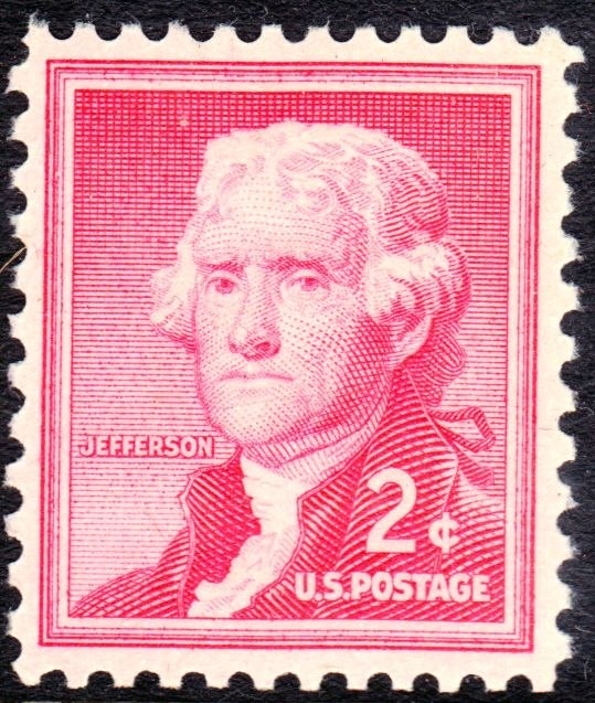Thomas Jefferson Regular Issues 1954-2c