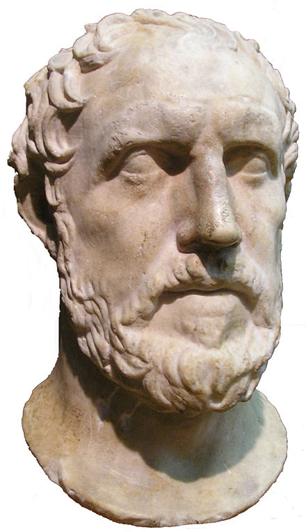 The field of international relations dates from the time of the Greek historian Thucydides. Thucydides-bust-cutout ROM.jpg