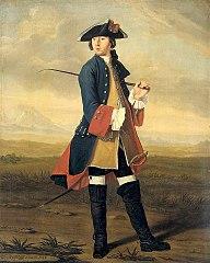 Ludolf Bakhuysen II (1717-82). Schilder, in het uniform der Dragonders