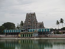 View of the temple and the temple tank