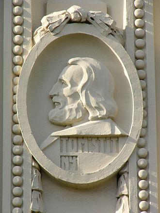 Tomáš Štítný ze Štítného - relief of Tomáš Štítný ze Štítného in Prostějov