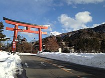 Torii on Chugushi Sando of Nikko Futarasan Shrine 2.JPG