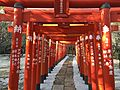 Toriis of Hamanomiya Inari Shrine in Tsunashiki Temman Shrine 2.jpg