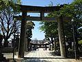 Toriis on sando of Miyajidake Shrine from inner side.JPG