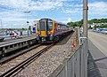 Train at Lymington Quay Station - geograph.org.uk - 1477275.jpg