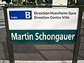 TramStrasbourg lineB Schongauer Panneau.JPG