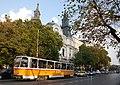 Tram in Sofia near Macedonia place 2012 PD 059.jpg