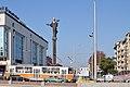 Tram in Sofia near Sofia statue 2012 PD 019.jpg