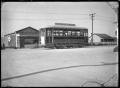 Tram in Te Hapara, Gisborne. ATLIB 291656.png