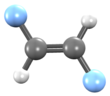 3D structure of Trans-1,2-difluoroethene